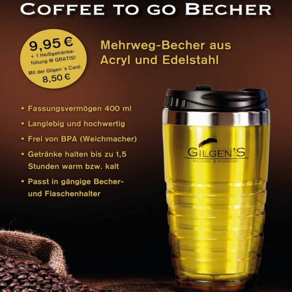 Gilgen's coffee to go Becher 400 ml