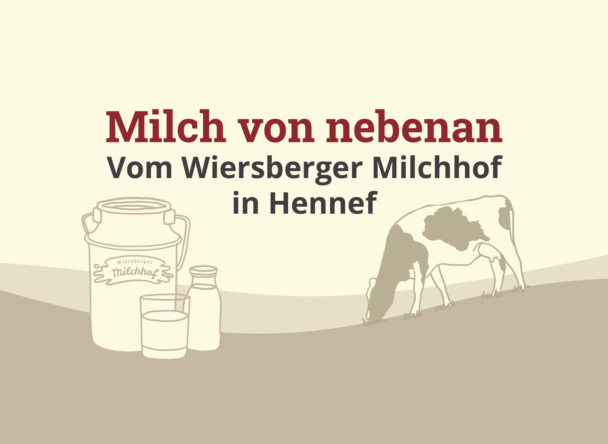 Unsere Milch kommt aus der Region